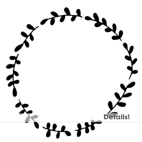 564x564 Wreath Clipart Outline