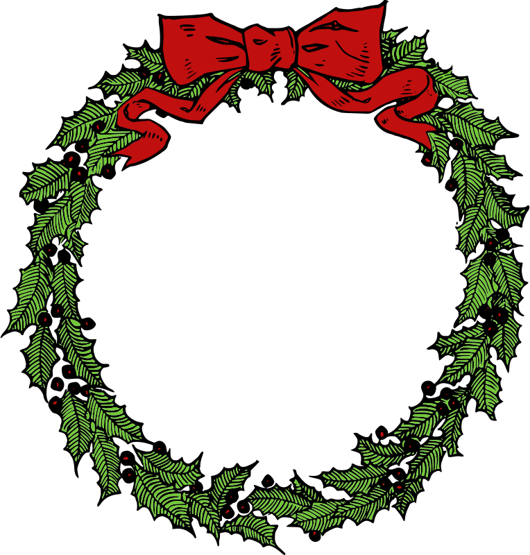 764x800 Wreath Clipart Vintage Christmas Wreath