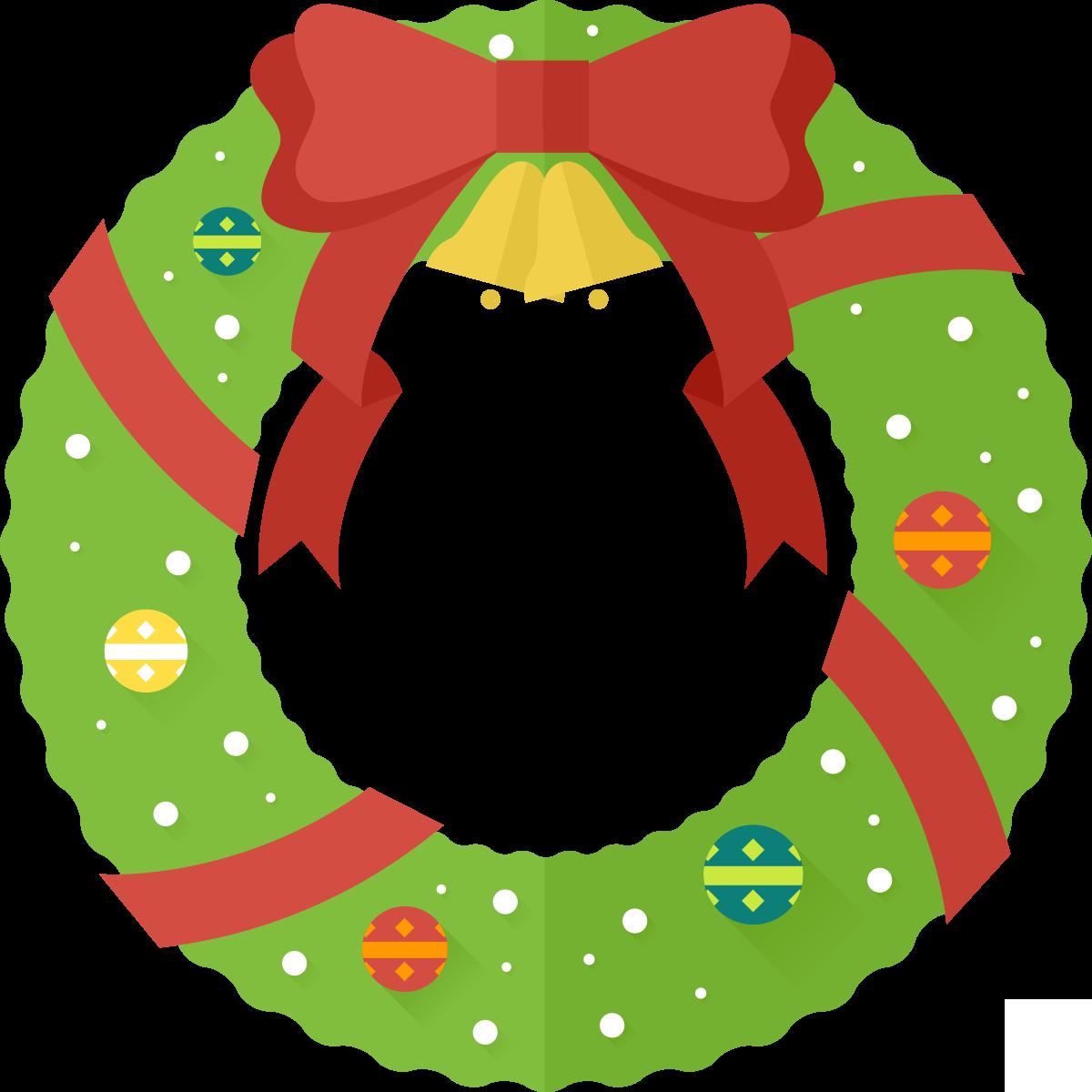 1200x1200 Xmas Wreath Clipart Kid