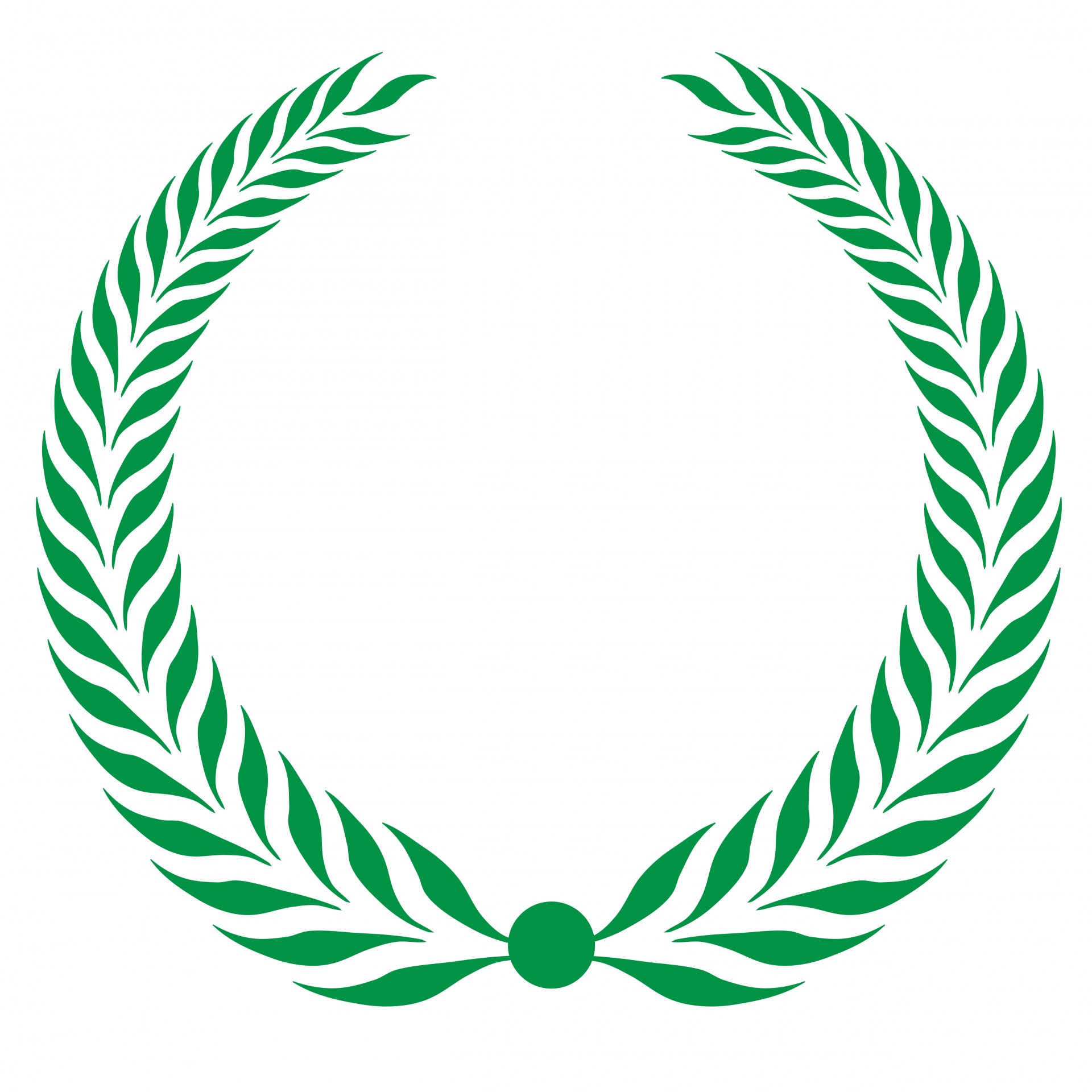 1920x1920 Laurel Wreath Clipart Green Free Stock Photo