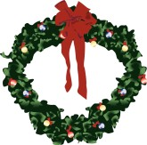 165x163 Christmas Wreath Clipart, Christmas Wreath, Christmas Wreath Image