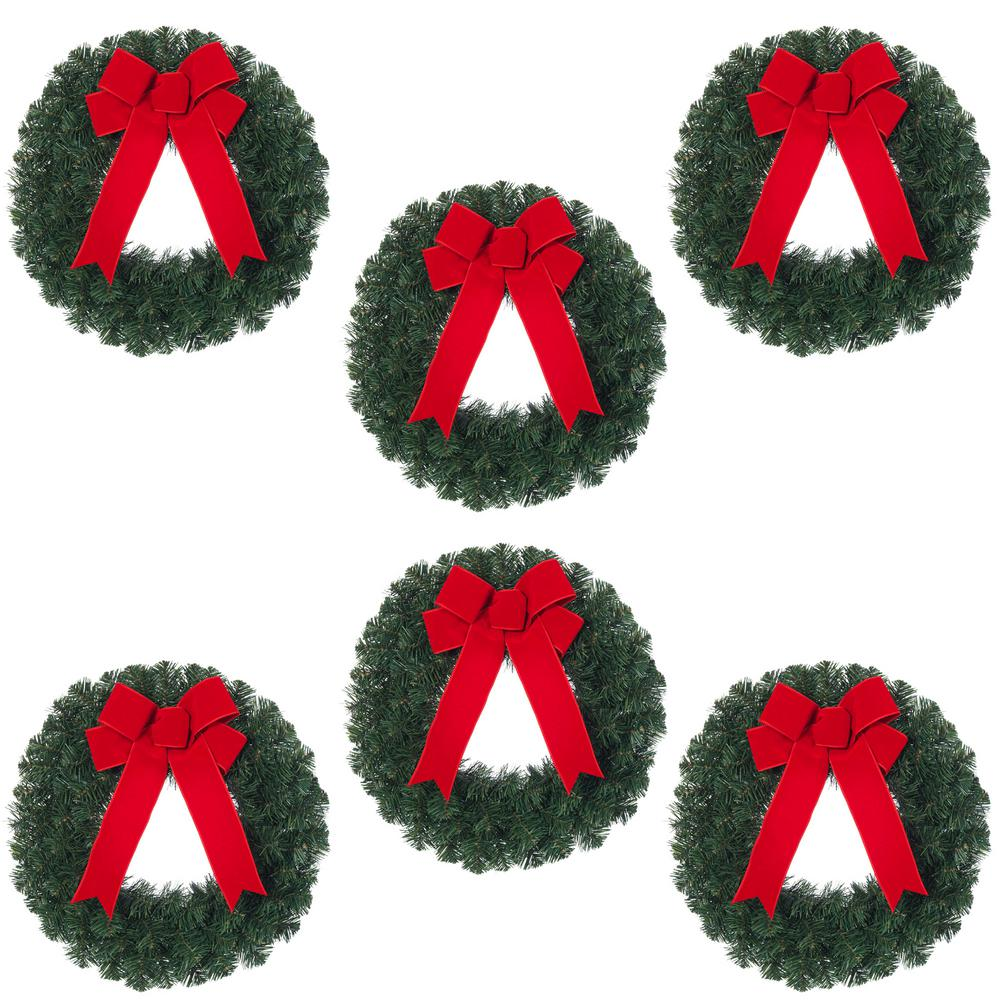 1000x1000 Home Accents Holiday 20 In. Unlit Artificial Christmas Wreath