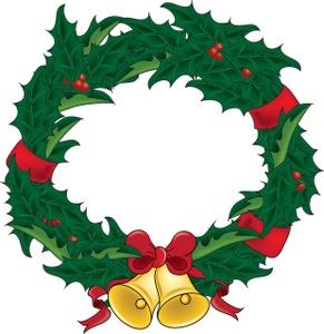 291x300 Christmas Wreath Clipart Kid