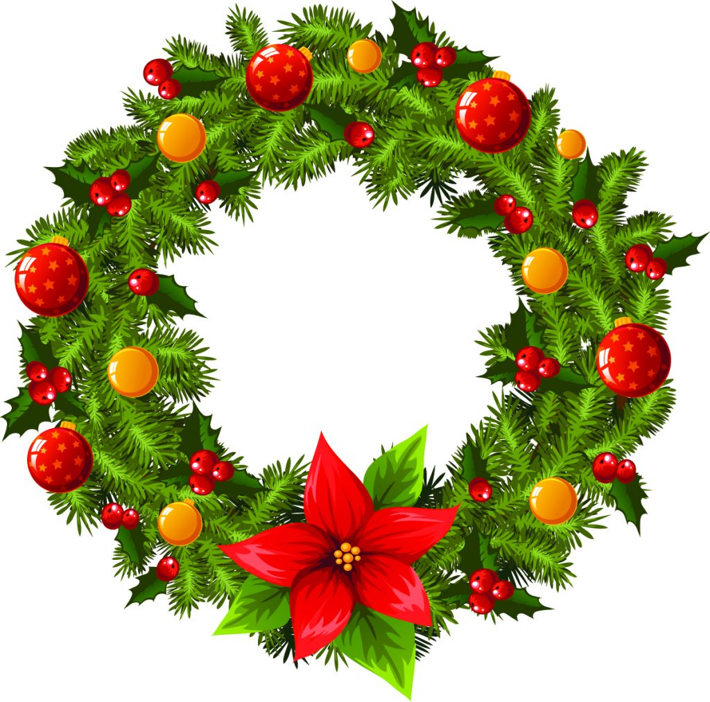 1024x1013 Christmas ~ Phenomenalas Wreath Clip Art Black And White Animated
