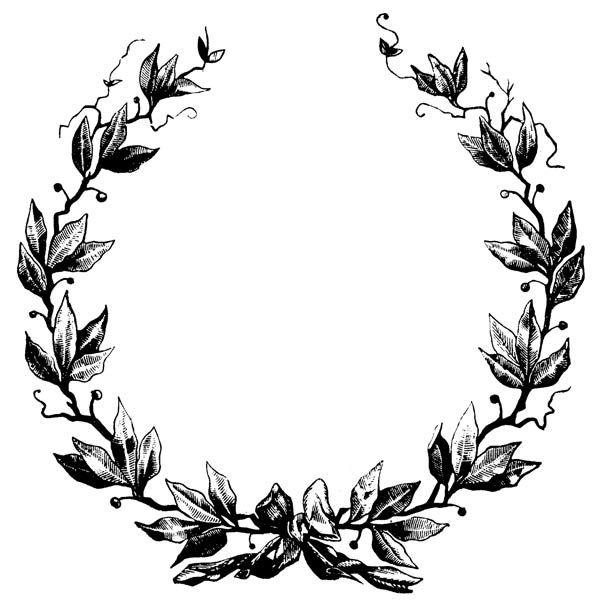 600x601 Classy Clipart Wreath