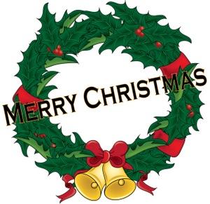 300x291 Merry Christmas Clipart Wreath