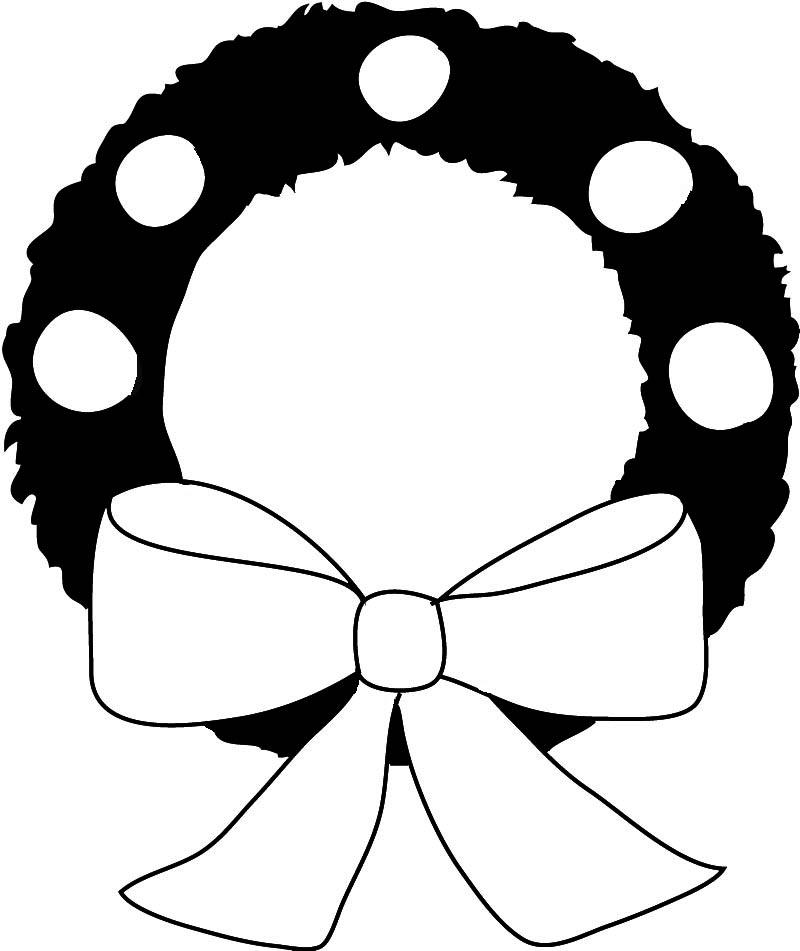 800x951 Plain Christmas Wreath Clip Art Merry Christmas Amp Happy New Year