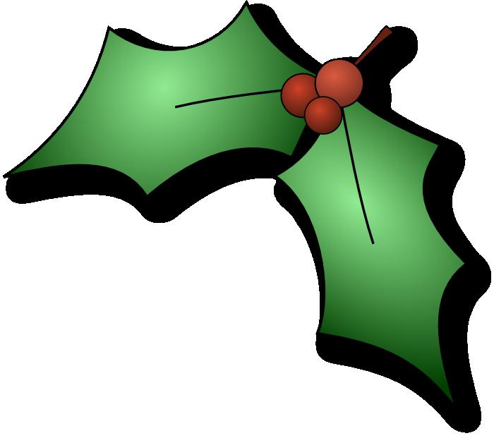 700x621 Best Christmas Holly Clip Art