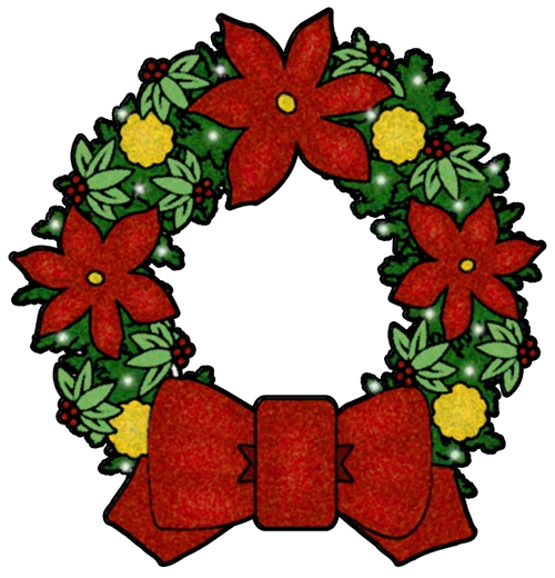 500x520 Wreath Clipart Christmas Garland Free Images