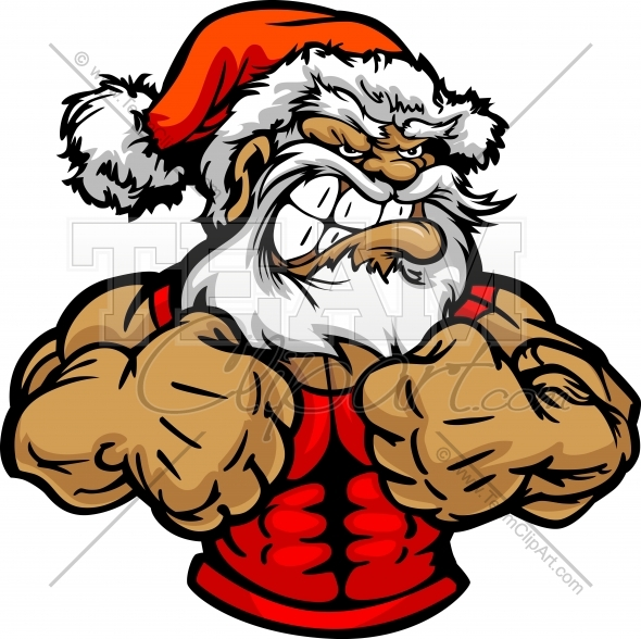 590x588 Santa Claus Wrestling Clipart and More Wrestling Mascots.