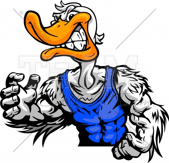 590x568 Duck Wrestling Clipart Image. Easy to Edit Downloadable Vector Format.