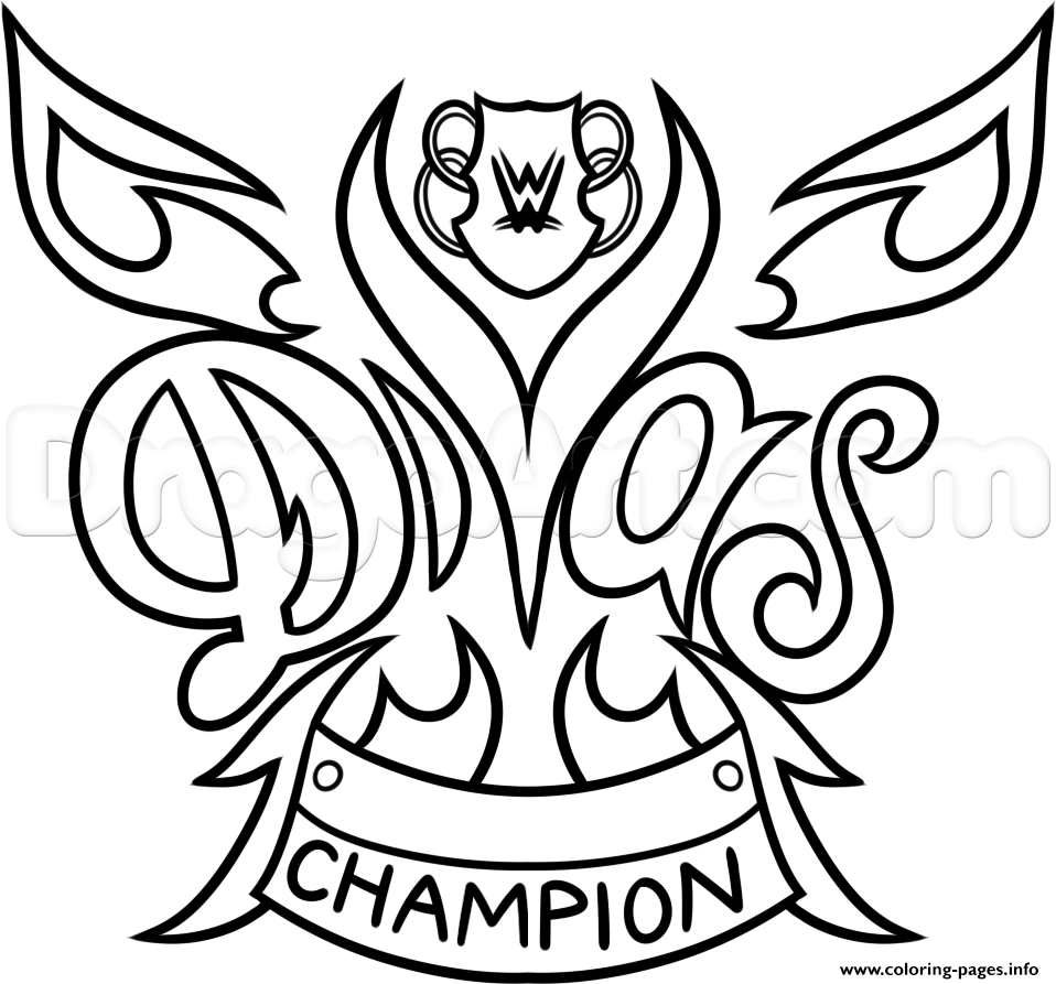 958x893 Plain Decoration Wwe Coloring Pages WRESTLING Printable