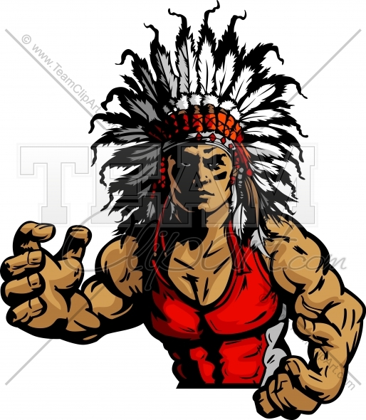 514x590 Indian Chief Wrestling Clipart And More Wrestling Mascots.