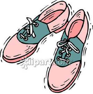 299x300 And Grey Saddle Shoes Royalty Free Clipart Picture