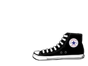 297x222 Converse Shoes Clipart
