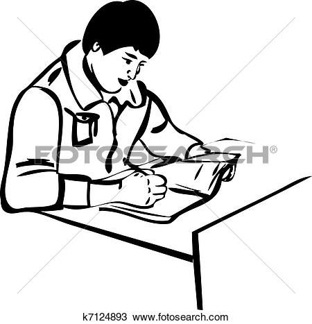450x467 Illistration Clipart Writer
