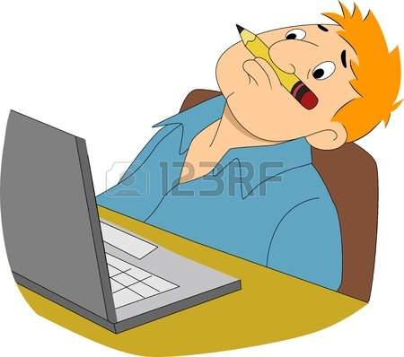 450x398 Illustration Of A Guy Writer Sleeping In Front Of His Computer