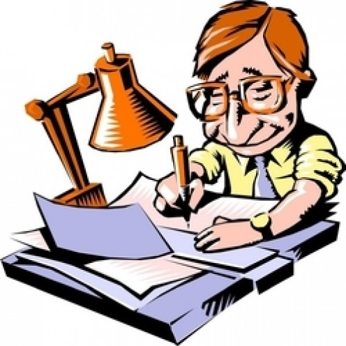 496x496 Author Writing A Book Clip Art