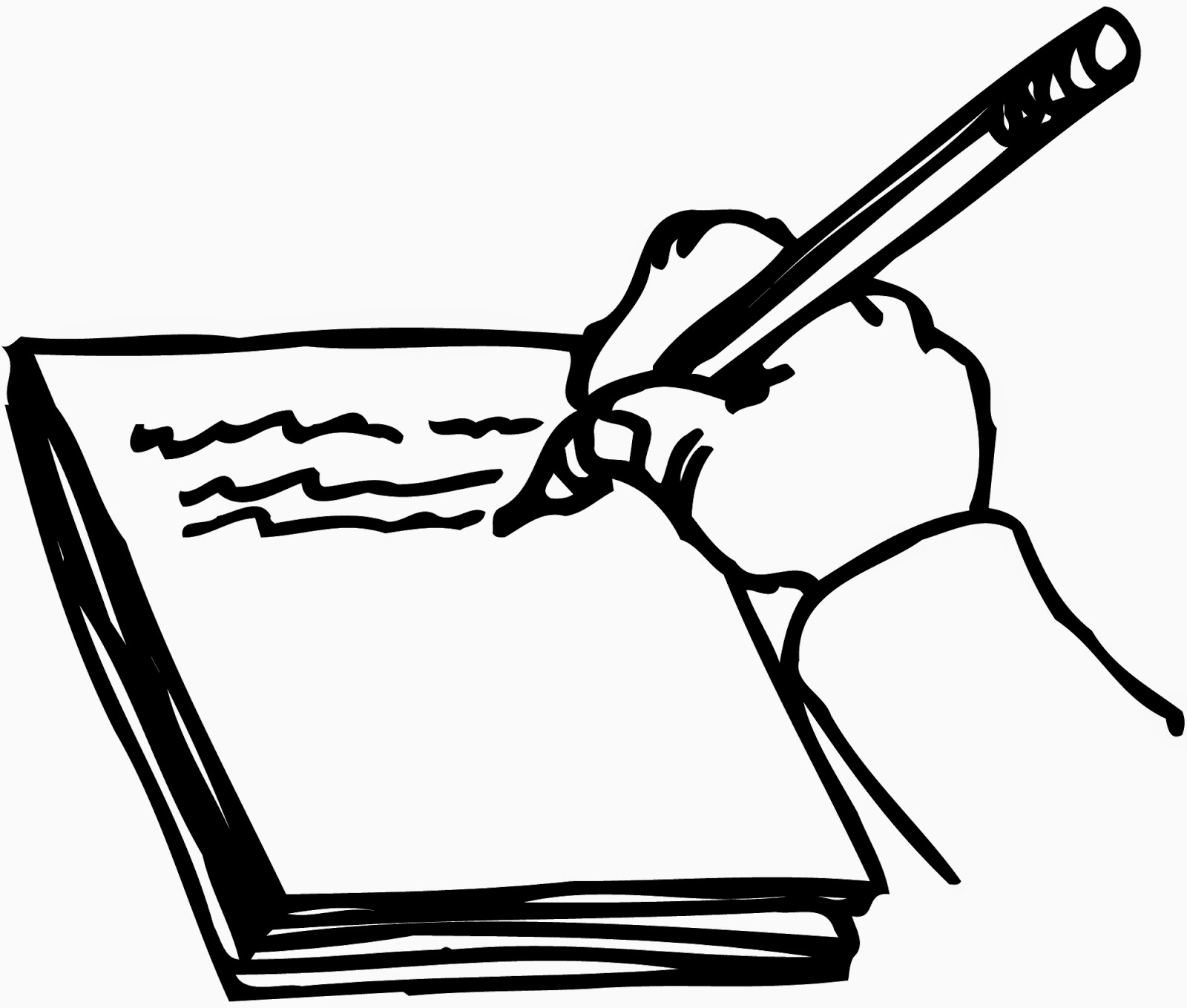 1600x1359 Writing In A Book Clipart