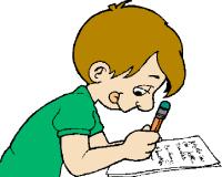 200x160 Kid Writing Clip Art Clipart Panda
