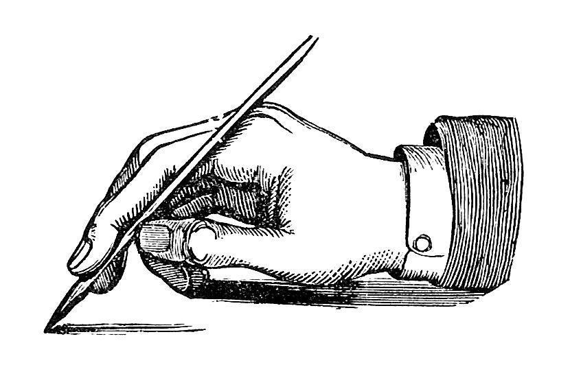 830x567 Writing Clip Art