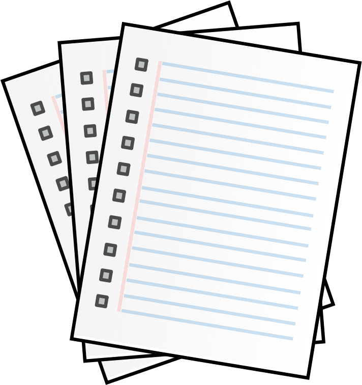 Writing Clipart Black And White | Free download on ClipArtMag