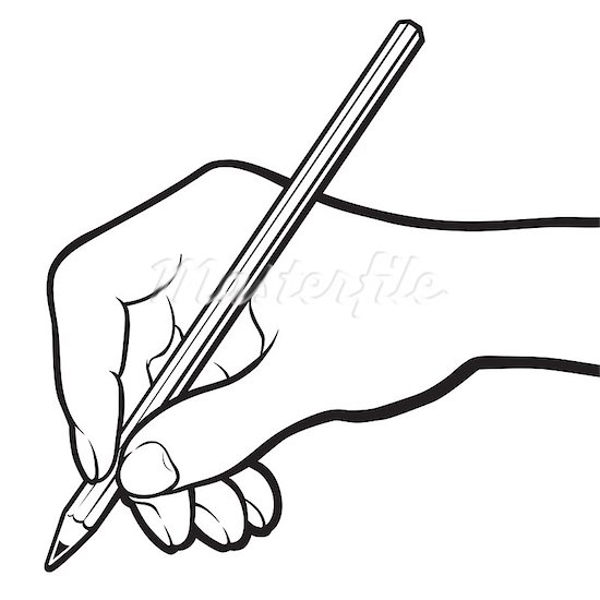 Writing black and white. Clipart free download best