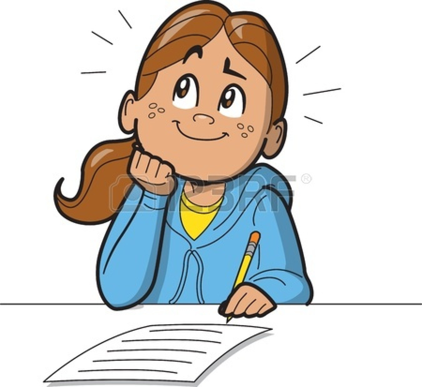 1350x1239 Girl Writing Clipart