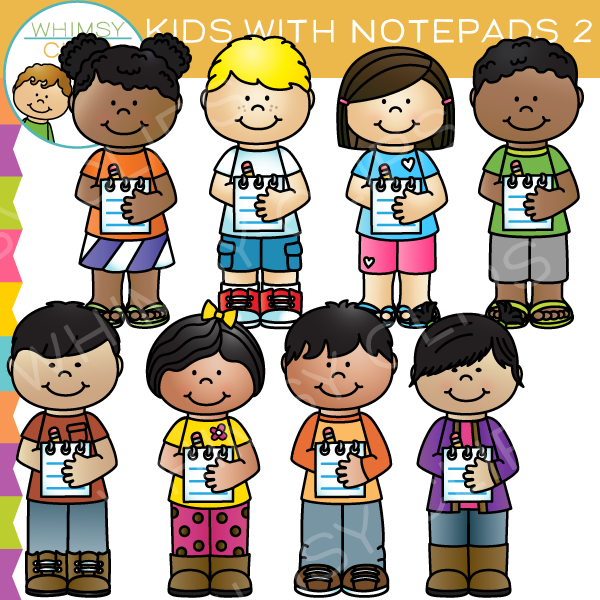 600x600 Kids Writing Paper Clip Art , Images Amp Illustrations Whimsy Clips