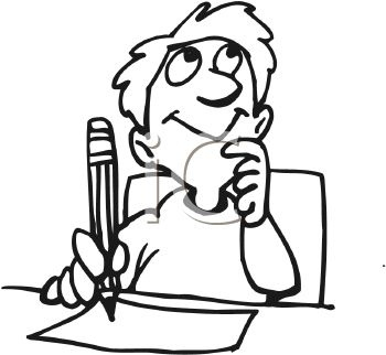 350x322 Student Writing Clipart Black And White Letters Example