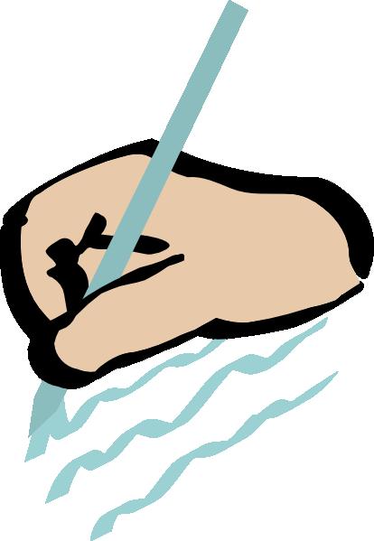414x599 Bitterjug Hand Writing Clip Art
