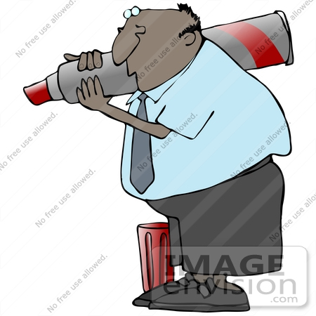 450x450 Clip Art Graphic Of An African American Business Guy Writing