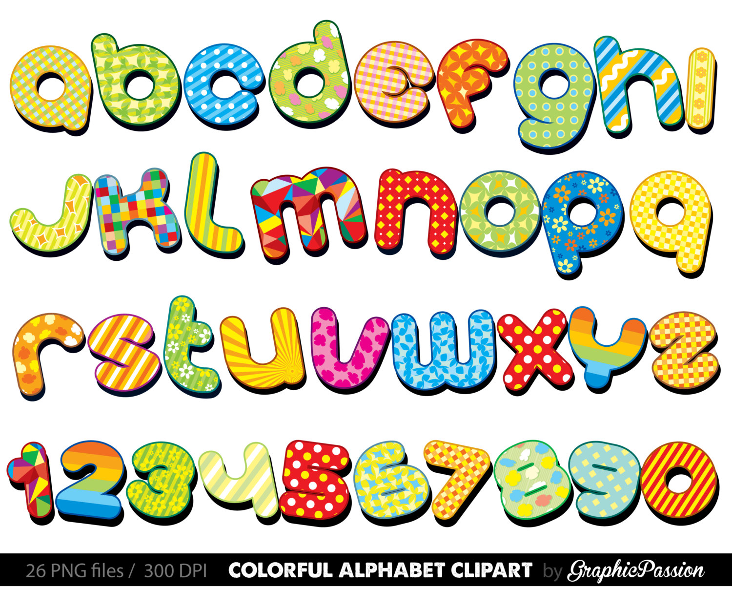 1500x1208 Colorful Alphabet Clipart Color Alphabet Digital Alphabet