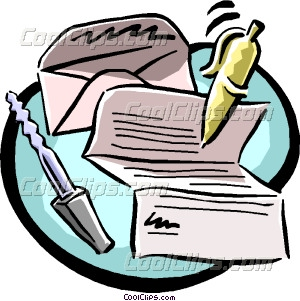 300x301 Writing A Letter Clipart