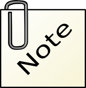 292x297 Paperclip Note Clip Art