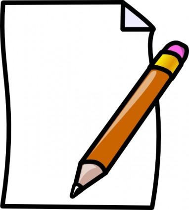 382x425 Pen Clipart Notes Paper