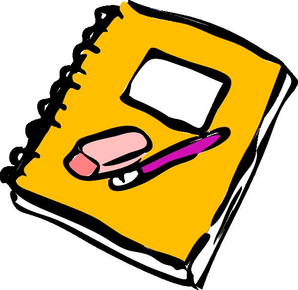 600x583 Pencil Eraser And Journal Clip Art