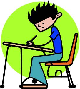 272x304 Student Taking Notes Clipart