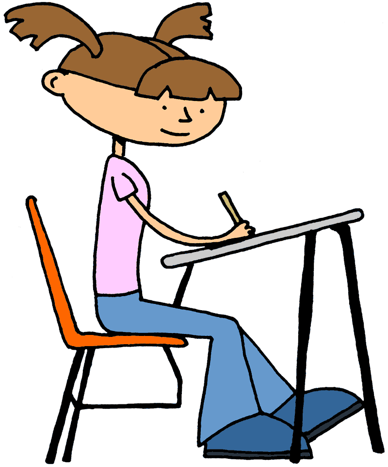 800x962 Students Writing Clipart