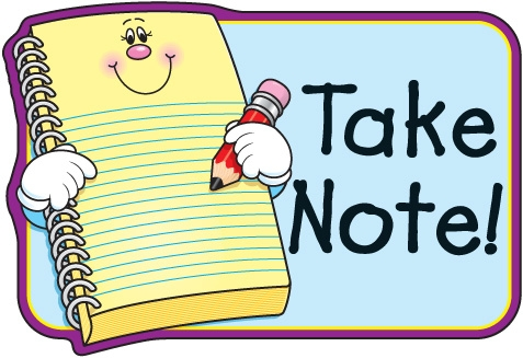 477x327 Taking Notes Student Clipart