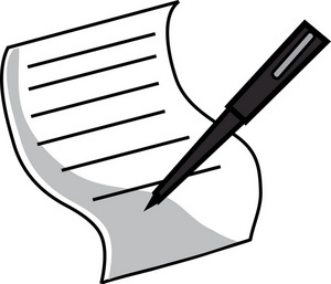 300x257 Pen Writing On Paper Clipart Letters Example