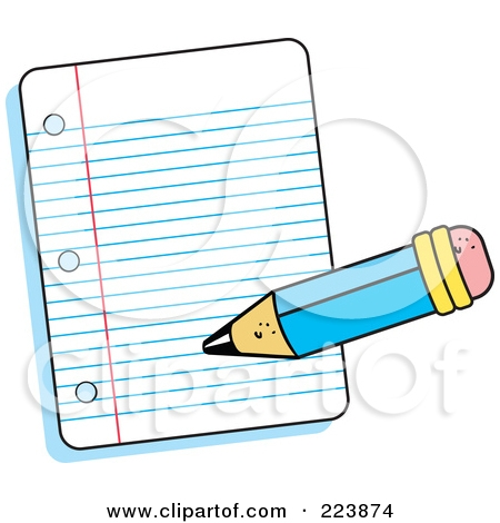 450x470 Writing Paper Clipart