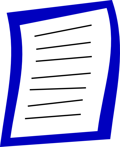 486x597 Blue Paper Clip Art