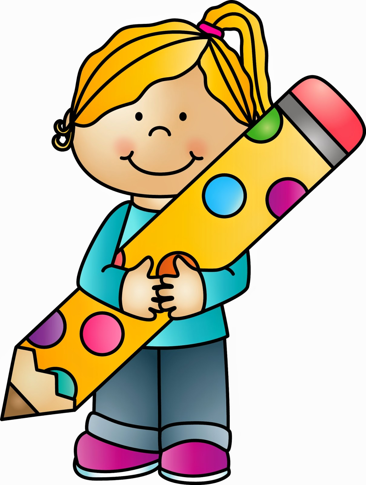 1208x1600 Kids With Pencil Clipart