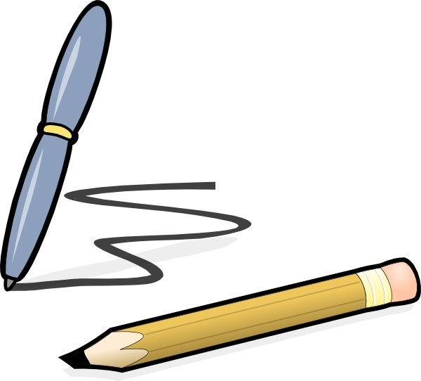 600x542 Pen Amp Pencil Clip Art Free Vector In Open Office Drawing Svg