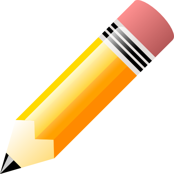 600x600 Pencil Writing Clipart Free Clip Art Images Image