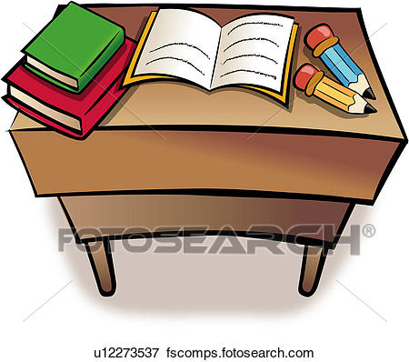 450x398 Clip Art Of Book, Writing Materials, Table, Pencil, Object