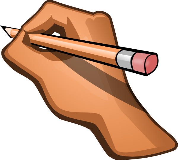 600x539 Free Pencil Writing Clipart Image