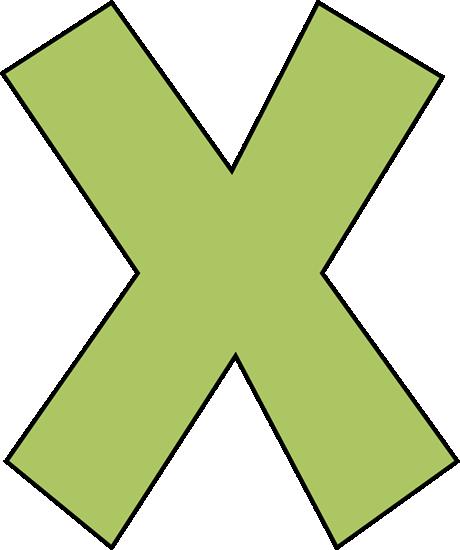 460x550 Green Letter X Clip Art