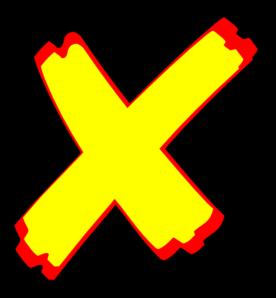276x298 Letter X Clip Art